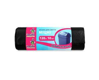 Мішки для сміття «Добра господарочка» 120 л 69x105 HDPE, 10шт/уп