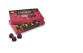 Конфеты Вишня заспиртованная в шоколаде, ХКФ, 190г