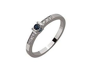 Золотое кольцо с бриллиантами Артикул 01-17423894