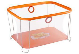 Манеж Qvatro Сонечко-02 дрібна сітка оранжевий (winnie pooh)