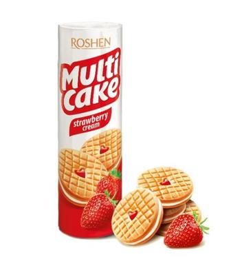 Печиво Roshen MultiCake/Ажур полуниця-крем 195г