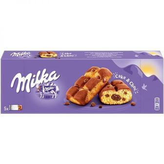 Пирожное бисквитное с шоколадной начинкой и кусочками молочного шоколада Milka, 35г
