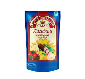 Майонезний соус Лагідний 30 % Королівський Смак 180 г