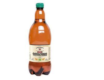 Пиво Бочкове, нефільтроване, ППБ, 0,9л