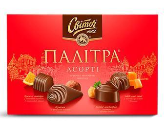 Цукерки «Світоч» «Палітра Асорті» молочний шоколад, 200г