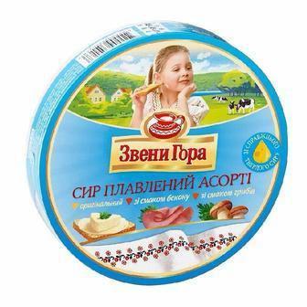 Сыр плавленый порционный Ассорти Звени Гора 140г