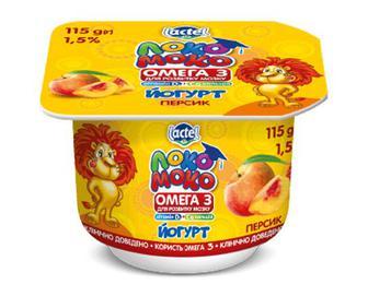 Йогурт «Локо Моко» персик, 1,5% жиру, 115г