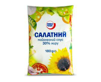 Майонезний соус «Салатний» 30% жиру «Повна Чаша»® 180 г