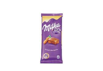 Шоколад Цілий мигдаль, молочний Мilka 90 г