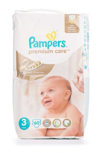 Подгузники PAMPERS Premium Care р3 4-9кг 60шт