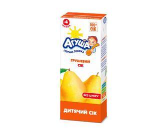 Сік «Агуша» без цукру грушевий, 200 мл