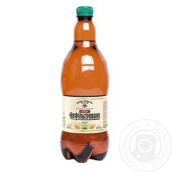 Пиво Бочкове нефільтроване, темне Перша Приватна Броварня 0,9 л