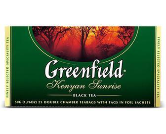 Чай чорний Greenfield Kenyan Sunrise, 25×2г