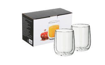 Набір стаканів скляних з подвійною стінкою 360 мл, 2 шт*1уп