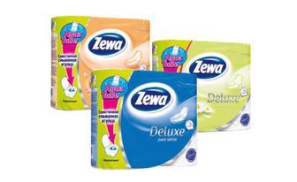 Туалетний папір Делюкс Ароматизований Персик, Ромашка, Класичний білий, Зева 4 шт